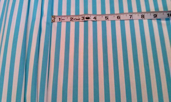 10L-109 Aqua White Stripes